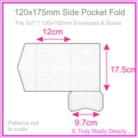 120x175mm Pocket Fold - Curious Metallics Ice Silver