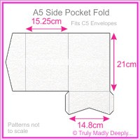 A5 Pocket Fold - Curious Metallics Ice Silver