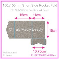 150mm Square Short Side Pocket Fold - Curious Metallics Ionised