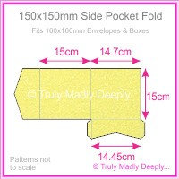 150mm Square Side Pocket Fold - Curious Metallics Lime