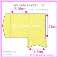 A5 Pocket Fold - Curious Metallics Lime