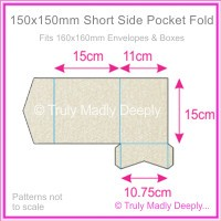 150mm Square Short Side Pocket Fold - Curious Metallics Lustre