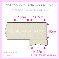 150mm Square Side Pocket Fold - Curious Metallics Lustre