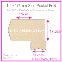 120x175mm Pocket Fold - Curious Metallics Nude