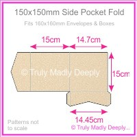 150mm Square Side Pocket Fold - Curious Metallics Nude