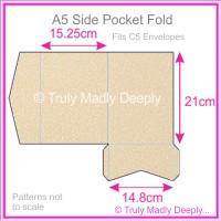 A5 Pocket Fold - Curious Metallics Nude