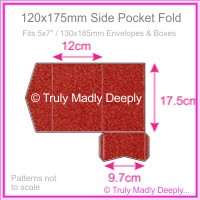 120x175mm Pocket Fold - Curious Metallics Red Lacquer