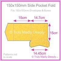 150mm Square Side Pocket Fold - Curious Metallics Super Gold