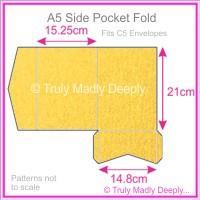 A5 Pocket Fold - Curious Metallics Super Gold