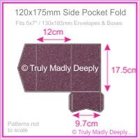 120x175mm Pocket Fold - Curious Metallics Violet