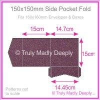 150mm Square Side Pocket Fold - Curious Metallics Violet