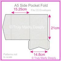 A5 Pocket Fold - Curious Metallics Virtual Pearl