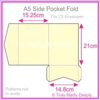 A5 Pocket Fold - Curious Metallics White Gold