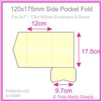 120x175mm Pocket Fold - Keaykolour Original China White