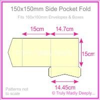 150mm Square Side Pocket Fold - Keaykolour Original China White