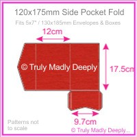 120x175mm Pocket Fold - Keaykolour Original Guardsman Red