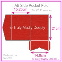 A5 Pocket Fold - Keaykolour Original Guardsman Red