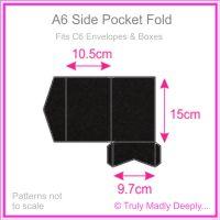 A6 Pocket Fold - Keaykolour Original Jet Black Ripple
