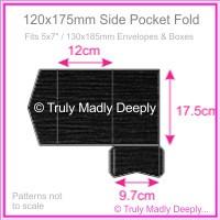 120x175mm Pocket Fold - Keaykolour Original Jet Black Ripple