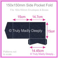 150mm Square Side Pocket Fold - Keaykolour Navy Blue