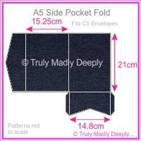 A5 Pocket Fold - Keaykolour Navy Blue