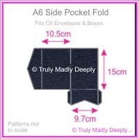 A6 Pocket Fold - Keaykolour Navy Blue