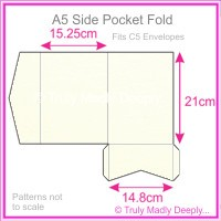 A5 Pocket Fold - Keaykolour Original Pure White