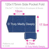 120x175mm Pocket Fold - Keaykolour Original Royal Blue