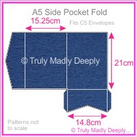 A5 Pocket Fold - Keaykolour Original Royal Blue