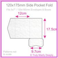 120x175mm Pocket Fold - Knight White Hammer