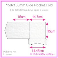 150mm Square Side Pocket Fold - Knight White Hammer