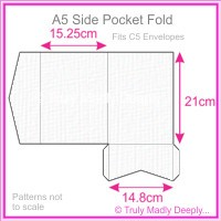 A5 Pocket Fold - Knight White Linen