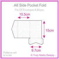 A6 Pocket Fold - Knight White Linen