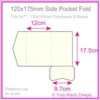 120x175mm Pocket Fold - Metallic Pearl Bridal White