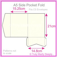 A5 Pocket Fold - Metallic Pearl Bridal White