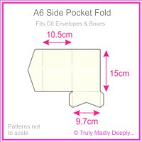 A6 Pocket Fold - Metallic Pearl Bridal White