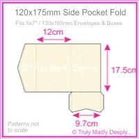 120x175mm Pocket Fold - Metallic Pearl Pale Buff