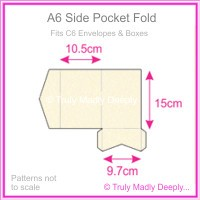 A6 Pocket Fold - Metallic Pearl Pale Buff