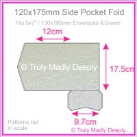 120x175mm Pocket Fold - Metallic Pearl Silver