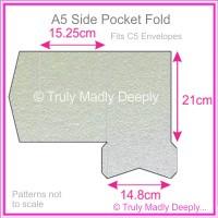 A5 Pocket Fold - Metallic Pearl Silver