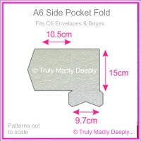 A6 Pocket Fold - Metallic Pearl Silver
