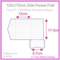 120x175mm Pocket Fold - Metallic Pearl White