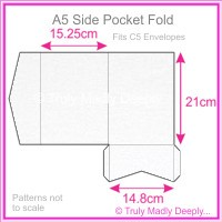 A5 Pocket Fold - Metallic Pearl White