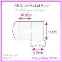 A6 Pocket Fold - Metallic Pearl White