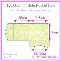 150mm Square Side Pocket Fold - Mohawk Via Felt Cream