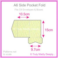 A6 Pocket Fold - Mohawk Via Felt Cream