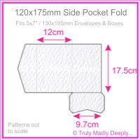 120x175mm Pocket Fold - Mohawk Via Felt Bright White