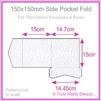 150mm Square Side Pocket Fold - Mohawk Via Felt Bright White