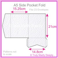 A5 Pocket Fold - Mohawk Via Felt Bright White