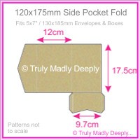 120x175mm Pocket Fold - Mohawk Via Vellum Kraft